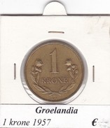 GROENLANDIA   1 KRONE  ANNO 1957  COME DA FOTO - Greenland
