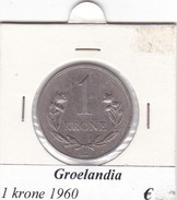 GROENLANDIA   1 KRONE  ANNO 1960  COME DA FOTO - Groenlandia