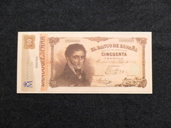 ESPAÑA BILLETE FACSÍMIL OFICIAL  DE LA FNMT - [ 8] Specimen