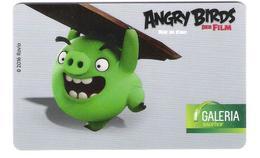 Germany - Allemagne - Galeria Kaufhof - Angry Birds Film - Carte Cadeau - Carta Regalo - Gift Card - Geschenkkarte - Frankreich