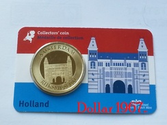 Collectors Coin - Coincard -THE NETHERLANDS – AMSTERDAM RIJKSMSEUM  - Pays-Bas - Elongated Coins