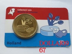 Collectors Coin - Coincard -THE NETHERLANDS – HOLLAND  - Pays-Bas - Elongated Coins