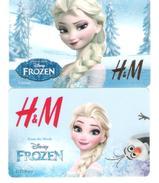 Germany - Allemagne - H&M - 2 Cards - Disney Frozen - Comic - Carte Cadeau - Carta Regalo - Gift Card - Geschenkkarte - Frankreich