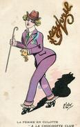 La Femme En Culotte A La Chochotte Club 1er Avril Illustré LAFON Humour - Illustratori & Fotografie