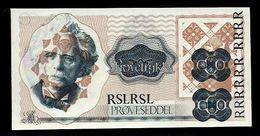 """NORWAY BANK"" Werbenote (promotional Note), Testnote, ""Edvard GRIEG"", RRRRR, UNC, Intaglio, Uniface - Norwegen"