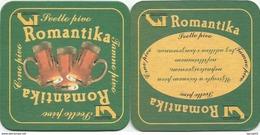 ROMANTIKA Svetlo Pivo Beer Coaster From Mini Brewery Zelturist Romantika  Serbia - Beer Mats