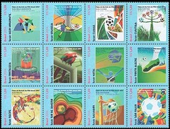 BRAZIL 2014 Word Cup Host Cities 12 Stamps Football Soccer - Brazil