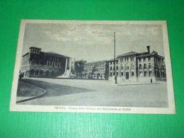 Cartolina Treviso - Piazza Della Vittoria Col Monumento Ai Caduti 1943 - Treviso