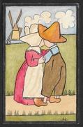 Amoureux Hollandais Moulin .Ant. - Illustrateurs & Photographes