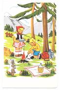 Illustrateur Miro Bret -  - Ed. Photochrom N° 457 - Enfants Randonnée Montagne Sapins Lapin Feu - Altre Illustrazioni