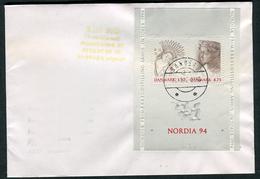 Denmark. NORDIA 94 Block On Letter - Danemark
