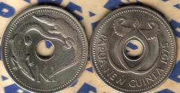 PAPUA NEW GUINEA 1 KINA CROCODILE FRONT BIRD EMBLEM BACK 1975 EX-PROOF READ DESCRIPTION CAREFULLY !!! - Papouasie-Nouvelle-Guinée