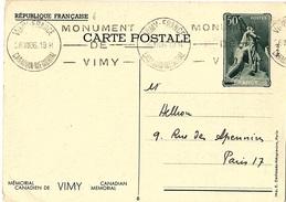 ENT-10 - FRANCE Entier Postal Vimy 1936 - Cartes Postales Types Et TSC (avant 1995)