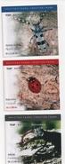 CROATIE : 3 Carnets De 10 Timbres NEUFS De 2005 COLEOPTERES. - Croatie