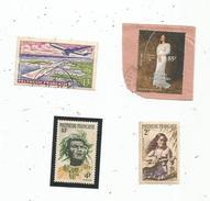Timbre , POLYNESIE FRANCAISE , LOT DE 4 TIMBRES - Autres