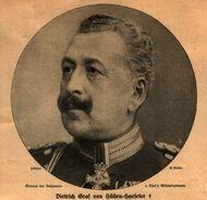 Dietrich Grav Von Hülsen-Haeseler  / Druck, Entnommen Aus Zeitschrift/ 1908 - Livres, BD, Revues