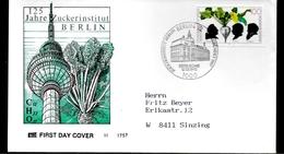 ALLEMAGNE BERLIN  FDC  Sucre Marggraf Achard Scheibler  Betterave - Légumes