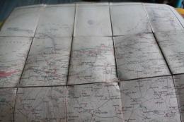 Carte Entoilée Des Environs De Cherbourg Avec Cachet Du 1er Régiment D'infanterie De Marine Début XXème - Nautical Charts