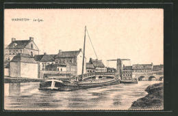 CPA Warneton, La Lys, Flusspartie Avec Bateau - Non Classés