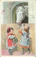 AK Karl Feiertag, Mädchen, Pferd, Katze, Puppe, BKWI 687-6 (23630) - Feiertag, Karl