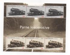 CROATIE - LOCOMOTIVES (Parne Lokomotive ). Feuille De 6 Timbres NEUFS De 2008. - Croatie
