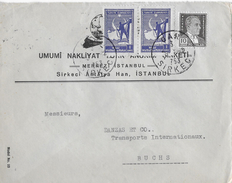 Letter Of Sirkeci Antalya To Switzerland → Nice Stamps From 1942 - 1921-... République