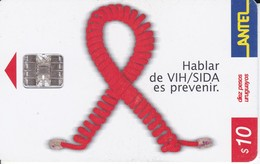 Nº 212 TARJETA DE URUGUAY DE ANTEL DE  SIDA - Uruguay