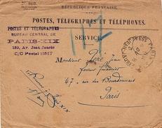 FR-L219 - FRANCE Lettre De Service Des Postes, Télégraphes Et Téléphones 1929 - Telegrafi E Telefoni