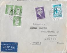 Letter Of Istanbul To Switzerland → YACHA HABIB With Par Avion, Nice Stamps 1946 - 1921-... Republik