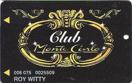 Monte Carlo Casino - Las Vegas NV - Slot Card With PPC Over Mag Stripe - Casino Cards