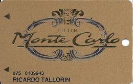 Monte Carlo Casino - Las Vegas NV - Slot Card With NO TEXT Over Mag Stripe - Casino Cards