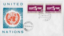 Letter Of Sofia To Switzerland → UNITED NATIONS 1958 - 1945-59 République Populaire