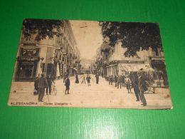 Cartolina Alessandria - Corso Umberto I 1911 - Alessandria