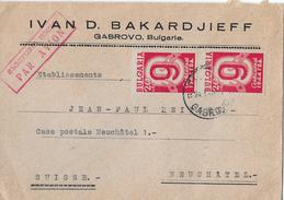 Letter Of GABROVO To Switzerland → IVAN D.BAKARDJIEFF Par Avian 1949 - 1945-59 République Populaire