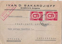 Letter Of GABROVO To Switzerland → IVAN D.BAKARDJIEFF Par Avian 1949 - 1945-59 Volksrepublik