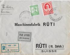 R-Letter Of SOFIA To Switzerland → OSCAR SCHAECHTER Luftpost Par Avion 1938 ►RRR◄ - 1909-45 Royaume