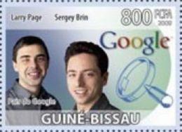 Guinea Bissau Larry Page Brin Google Computer 1v Stamp Michel 4194 - Non Classificati