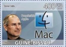 Guinea Bissau Steve Jobs Apple Computer 1v Stamp Michel 4192 - Non Classificati