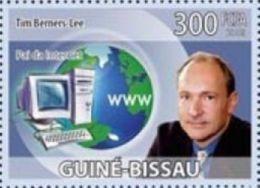 Guinea Bissau Tim Berners-Lee Scientist Internet Computer 1v Stamp Michel 4190 - Non Classificati
