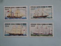 1984 Comores - Yvert 412/5  **  Bateaux Ships Scott Xx Michel 718/21  SG Xx - Comores (1975-...)