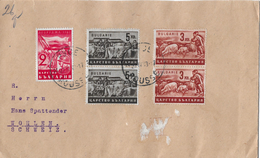Letter Of ROUSSE To Switzerland → LUEBEN STOILOFF Nice Stamps 1943 - 1909-45 Royaume