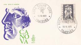 1972 ITALIA - 10 ANTONIO CANOVA - FDC VENETIA - 6. 1946-.. Repubblica