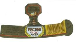 Etiquette Biere Fischer Schiltigheim  Fischer Strong Lager  25cl - Beer