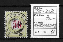 NACHPORTOMARKEN → SBK-20B Type 2 (kopfstehend) SCHMIEDRUED ►RRR◄ - Portomarken