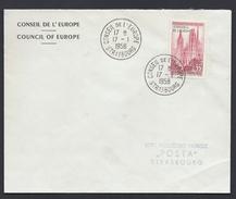 17.1.1958  CONSEIL DE L´EUROPE EUROPA PARLAMENT EUROPARAT COUNCIL OF EUROPE - Lettres & Documents