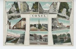 POLOGNE - POLAND - COSEL - KOZLE - Ring , Kirche , Kriegerdenkmal , Königstrasse, Oderbrücke ... - Polen
