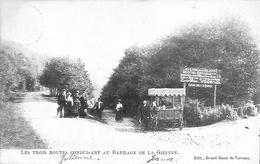 Les Trois Routes Conduisant Au Barrage De La Giletppe (animée, Marchand Ambulant Crème Glacée, 1907) - Jalhay