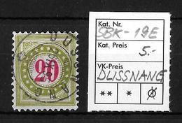 NACHPORTOMARKEN → SBK-19E Type 2 (kopfstehend) DUSSNANG  ►RRR◄ - Portomarken