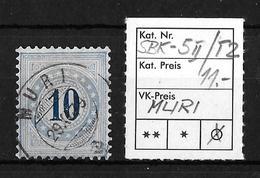 NACHPORTOMARKEN → SBK-5II Type 2 (kopfstehend) MURI ►RRR◄ - Portomarken