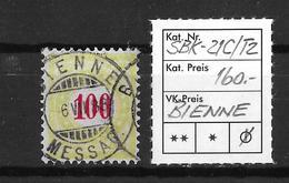 NACHPORTOMARKEN → SBK-21C Type 2 (kopfstehend) BIENNE  ►RRR◄ - Portomarken